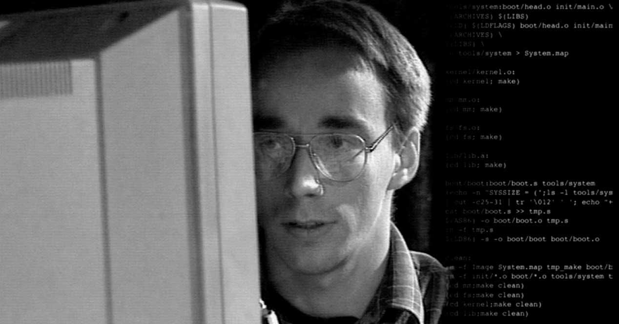 Linus Torvalds programación Linux