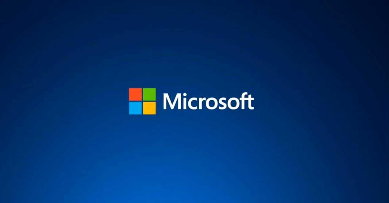 Microsoft logo fondo azul