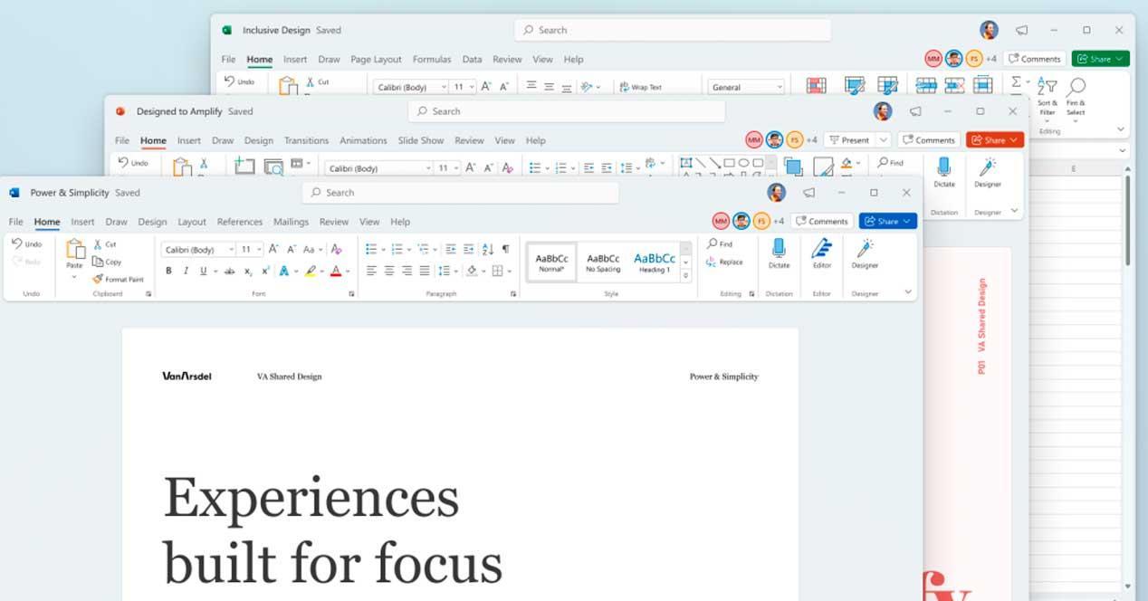 Nuevas apariencias Office Word Excel PowerPoint