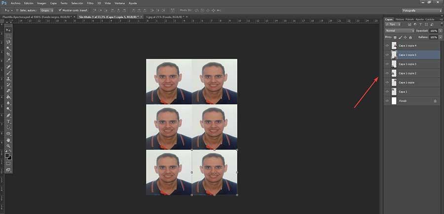 Photoshop 6 copies du carnet tamano