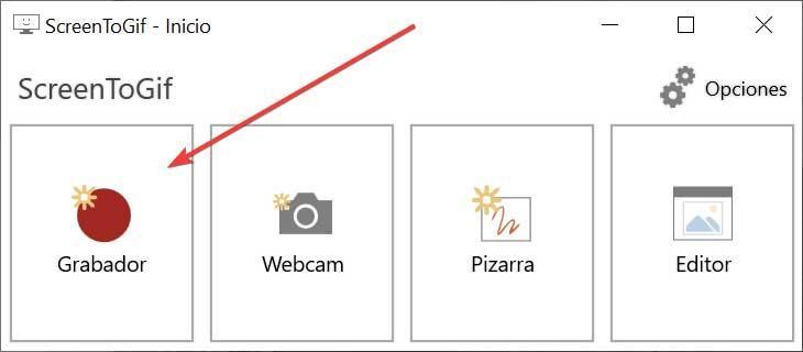 ScreenToGif-menupunkt