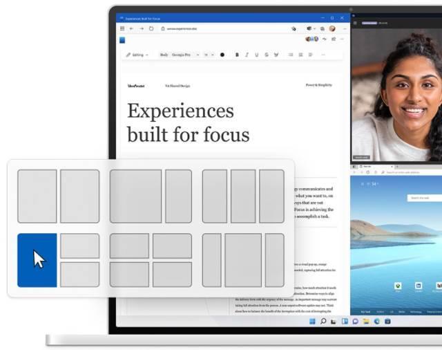 Snaps sur Windows 11