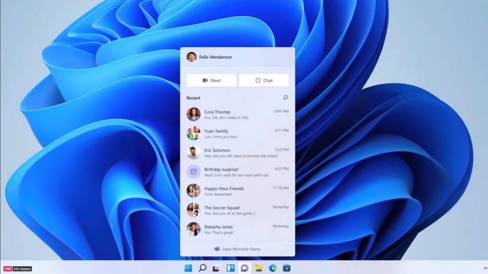 Équipes et Windows 11