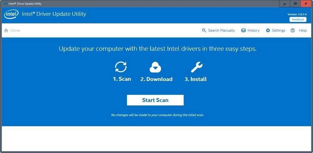 Utilidad Intel -ohjainpäivitys