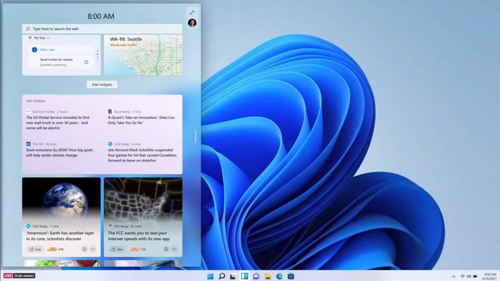 Widgets dans Windows 11