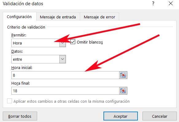 hora Excel