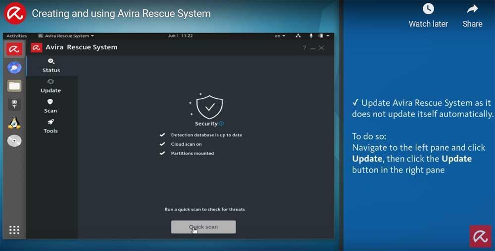 Avira Rescue System Antivirus Live