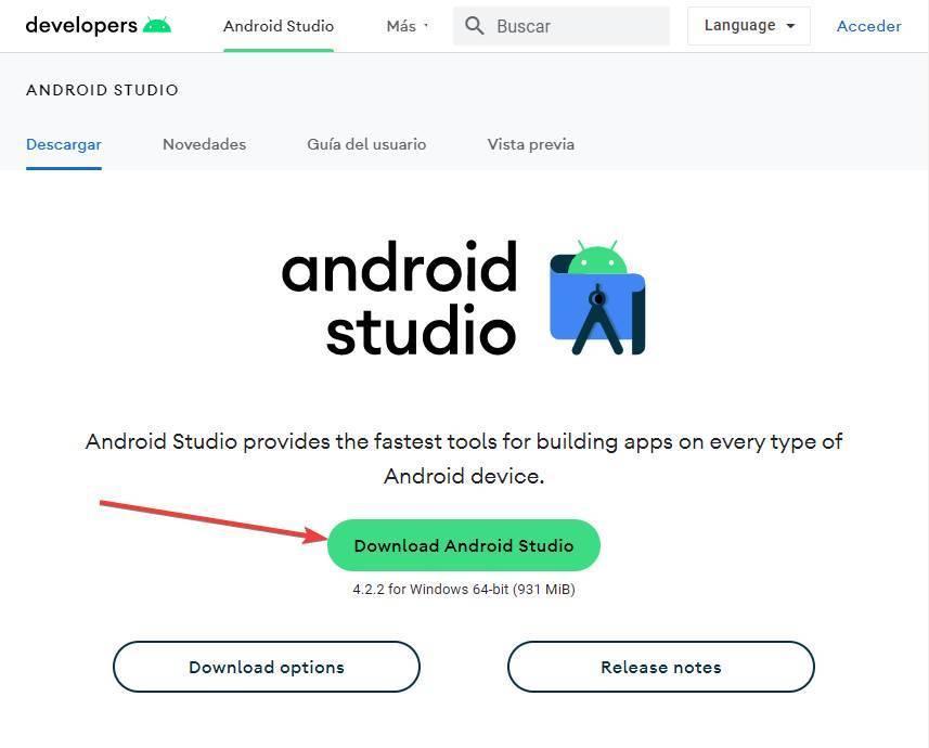 Скачать instalar Android Studio - 1