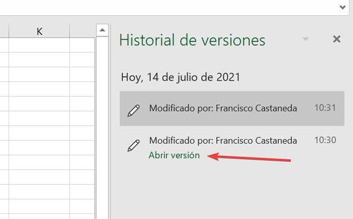 Excel abrir versión anterior