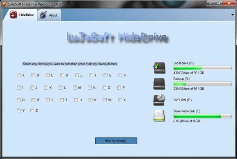 LuJoSoft HideDrive