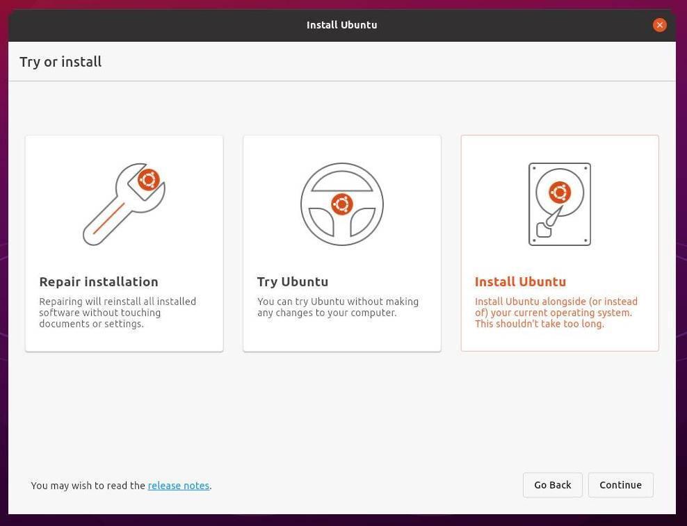 Nuevo instalador Ubuntu 21.10