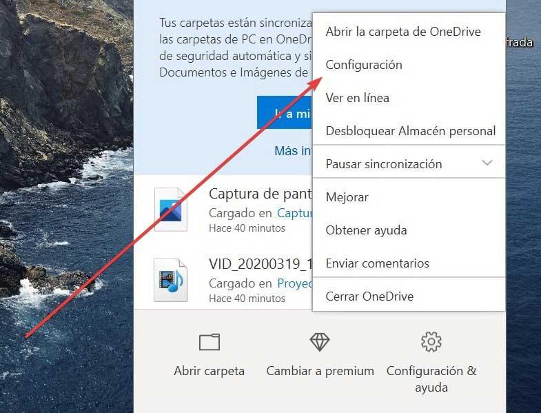 OneDrive Configuración