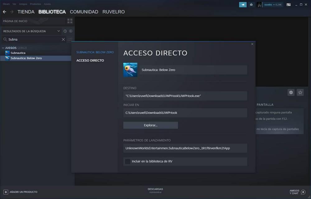 UWPHook - Juegos Steam
