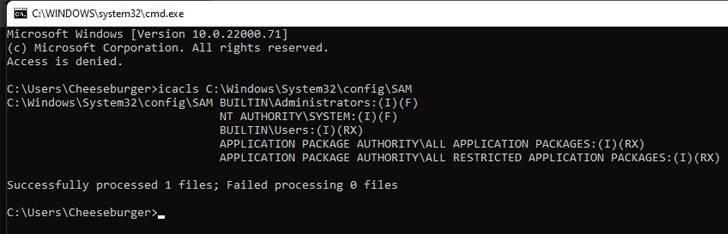 Vulnerabilidad Windows SAM