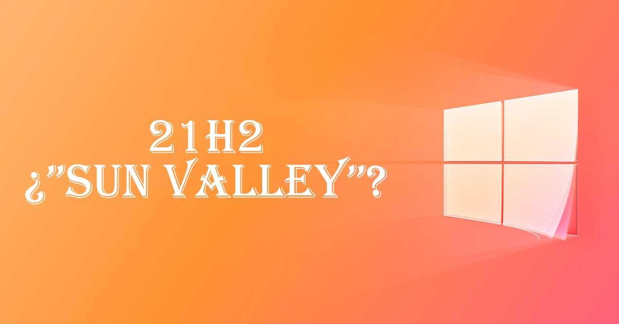 Windows 10 21H2 Sun Valley