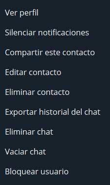 Acciones contacto