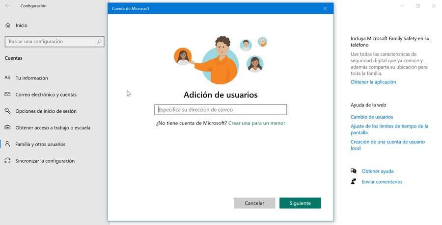 Agregar usuarios sin cuenta de Microsoft