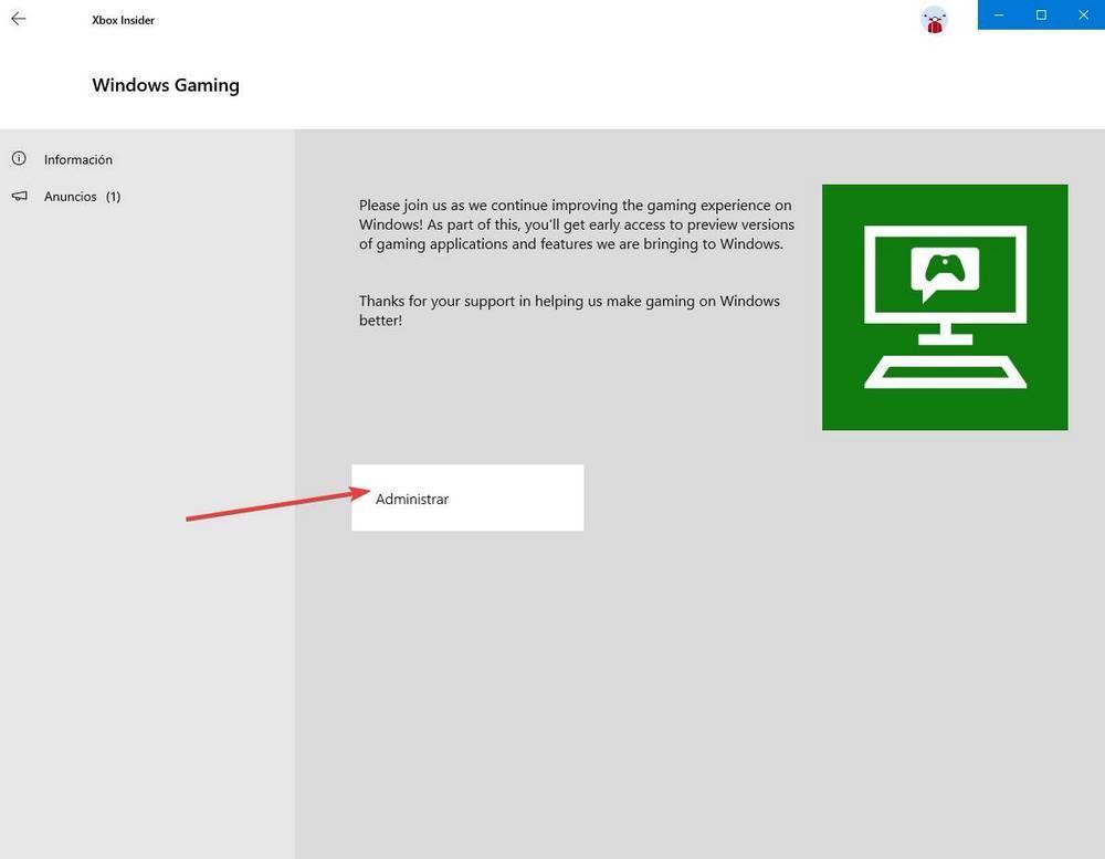 App Xbox Windows - Insider 2
