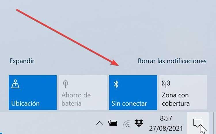 Centro de actividades Bluetooth