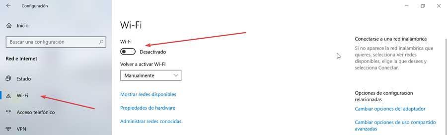 Configuração e WiFi