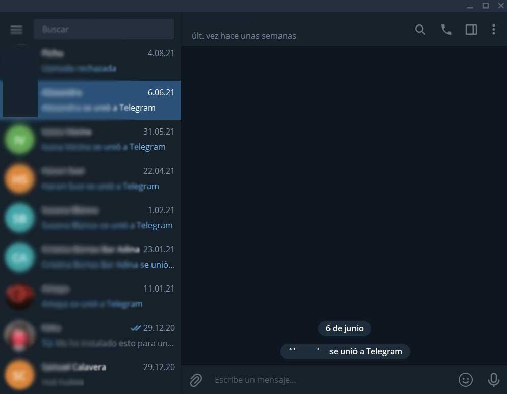 Интерфаз Telegram