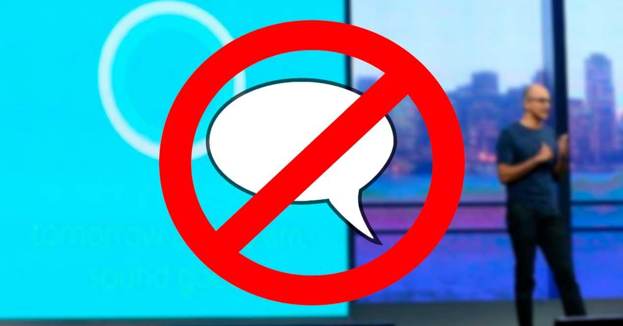 Prohibir Cortana