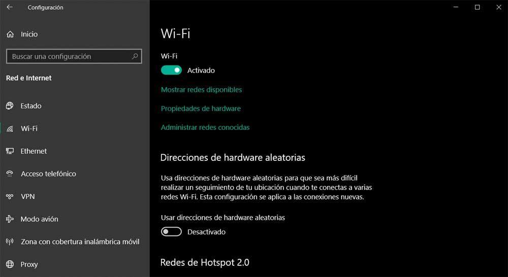 Configuration Wi-Fi