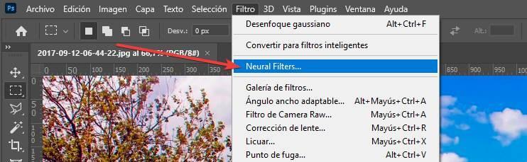 Filtros neuronales Photoshop - 1