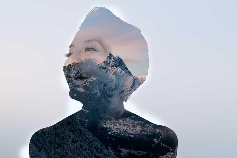 Imagen con efecto de doble exposición