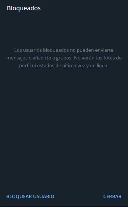 bloquear Telegram