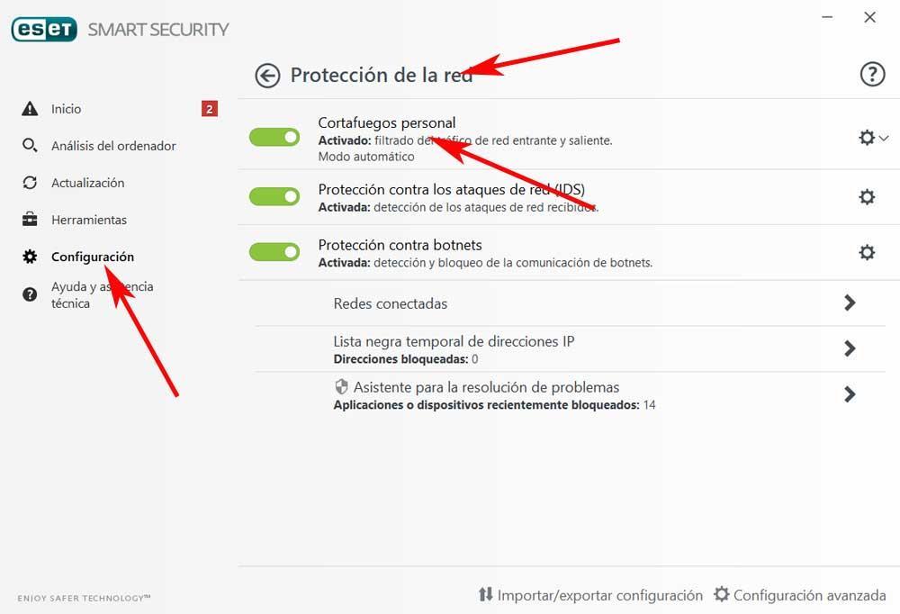 firewall eset