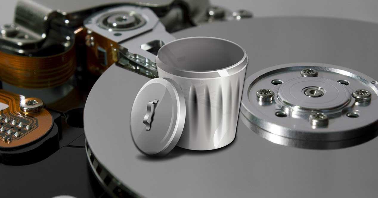 papelera disco