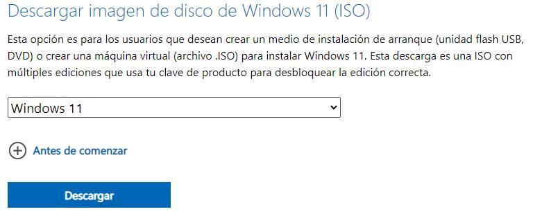 Bajar ISO Windows 11
