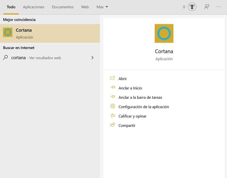 Ejecutar Cortana en Windows 10