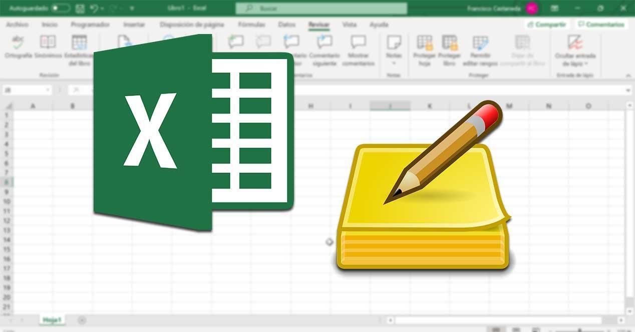 Excel insertar notas y comentarios