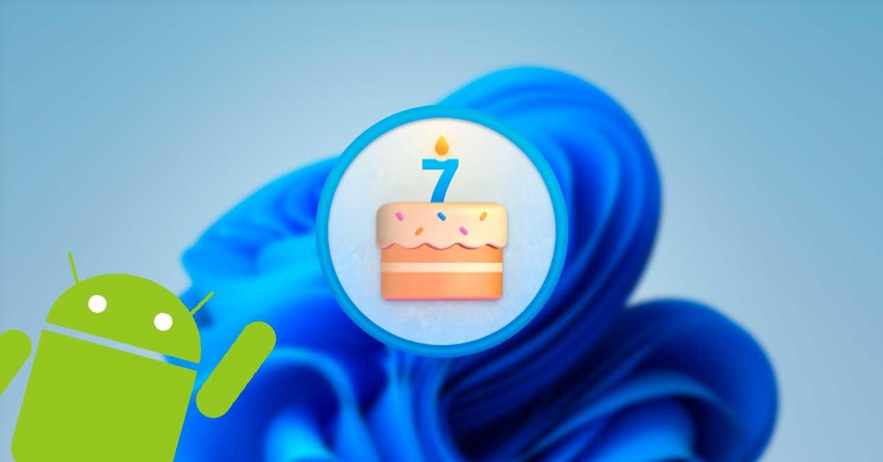Windows 11 build aniversario Android